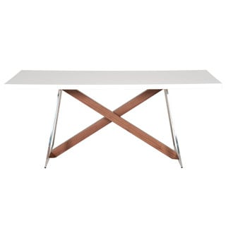 Liam Dining Table, White High Gloss