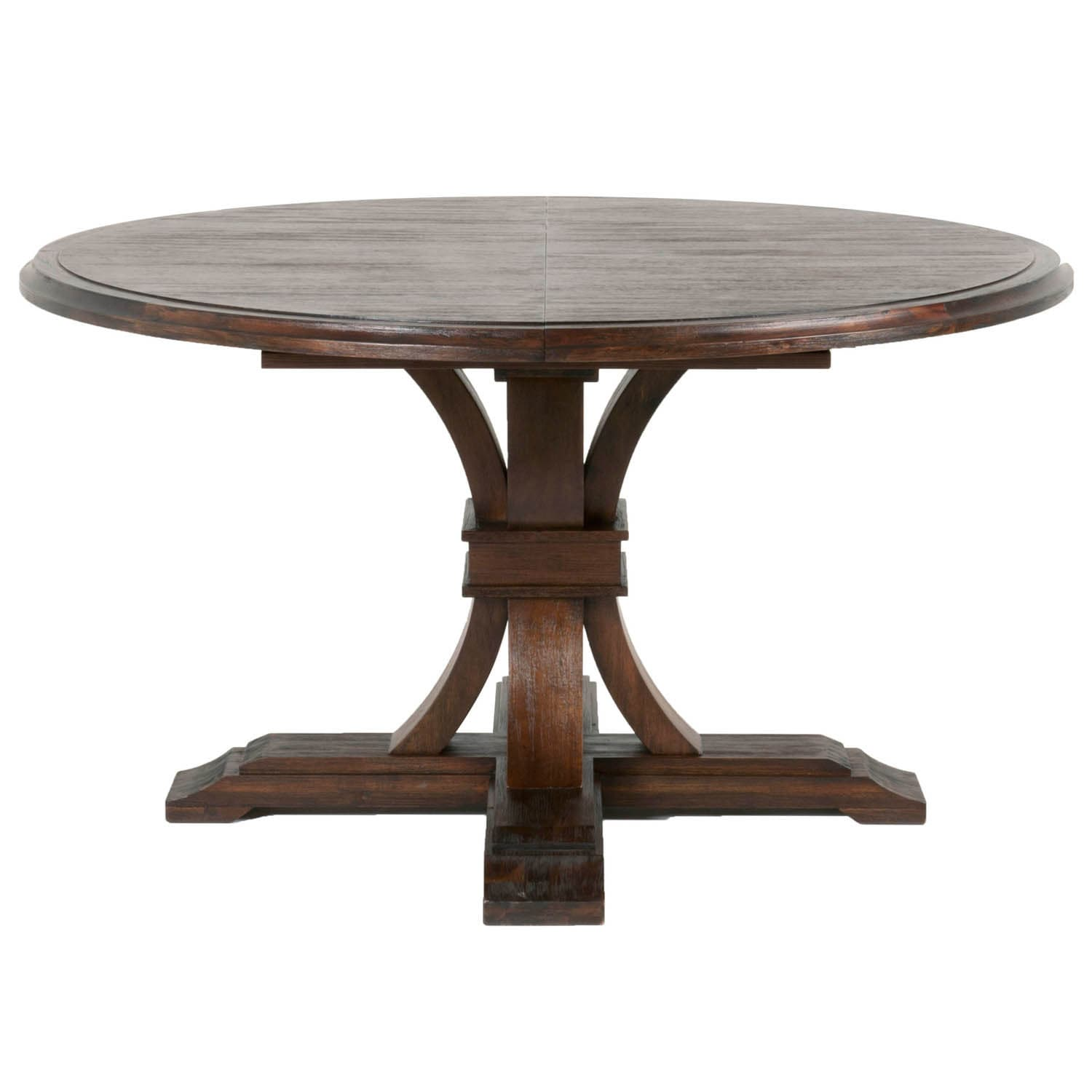 Darby Round Extension Dining Table, Rustic Java   Brown