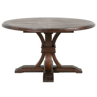 Darby Round Extension Dining Table, Rustic Java