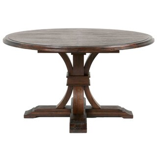 Darby Round Extension Dining Table, Rustic Java - Brown
