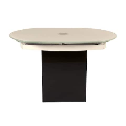 Connor Black Granite Glass Extension Dining Table