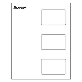 Avery Self-Laminating Laser/Inkjet Printer Badges 2 1/4 x 3 1/2 White 30/Box