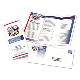 Avery Tri-Fold Brochures for Inkjet Printers 8 1/2 x 11 White 100 Sheets/Box