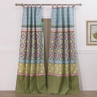 greenland home fashions shangrila 4piece window curtain panel set