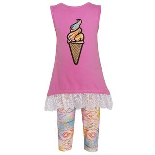AnnLoren Girls Boutique Pink Ombre Ice Cream Clothing (2-piece Set)|https://ak1.ostkcdn.com/images/products/13985486/P20610312.jpg?impolicy=medium