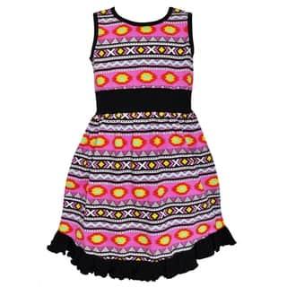 Ann Loren Girls' Boutique Black and Pink Tribal Maxi Dress (Option: 5t)|https://ak1.ostkcdn.com/images/products/13985492/P20610314.jpg?impolicy=medium