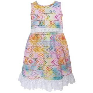 AnnLoren Girls' Boutique Multicolored Ombre Maxi Dress