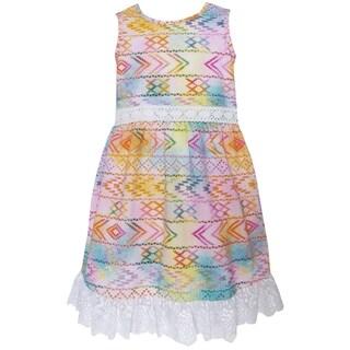 AnnLoren Girls' Boutique Multicolored Ombre Maxi Dress