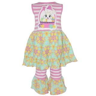 Ann Loren Girls' Boutique Easter Dress and Capri Outfit