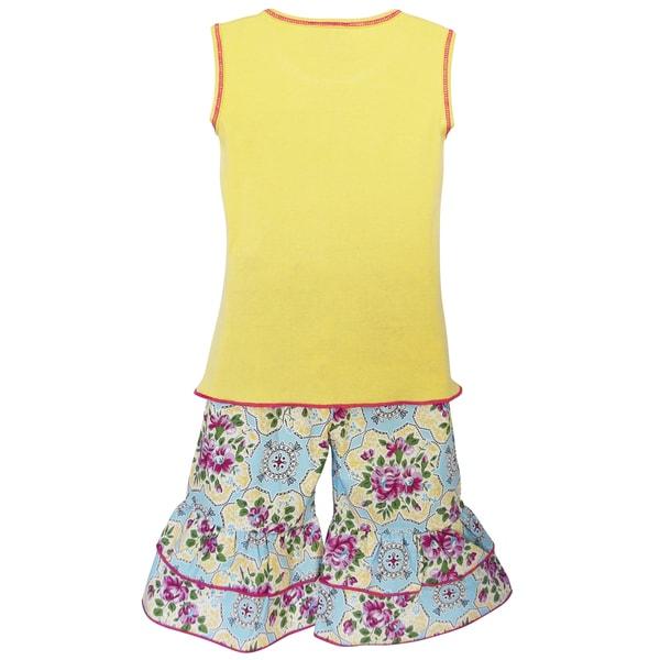 Coral Gray 7 yrs Mint Girls Tunic Ruffle Capri Boutique 2 pc Set 6 mo Grey