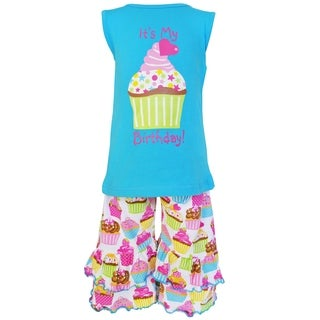 AnnLoren Original Cotton Happy Birthday Cupcake Outfit