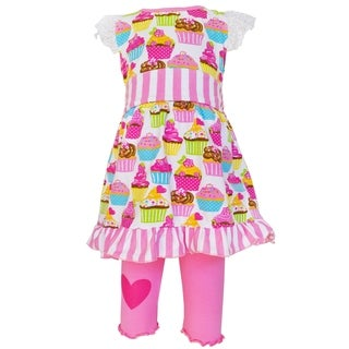 AnnLoren Original Cupcake Dress and Capri Legging Outfit