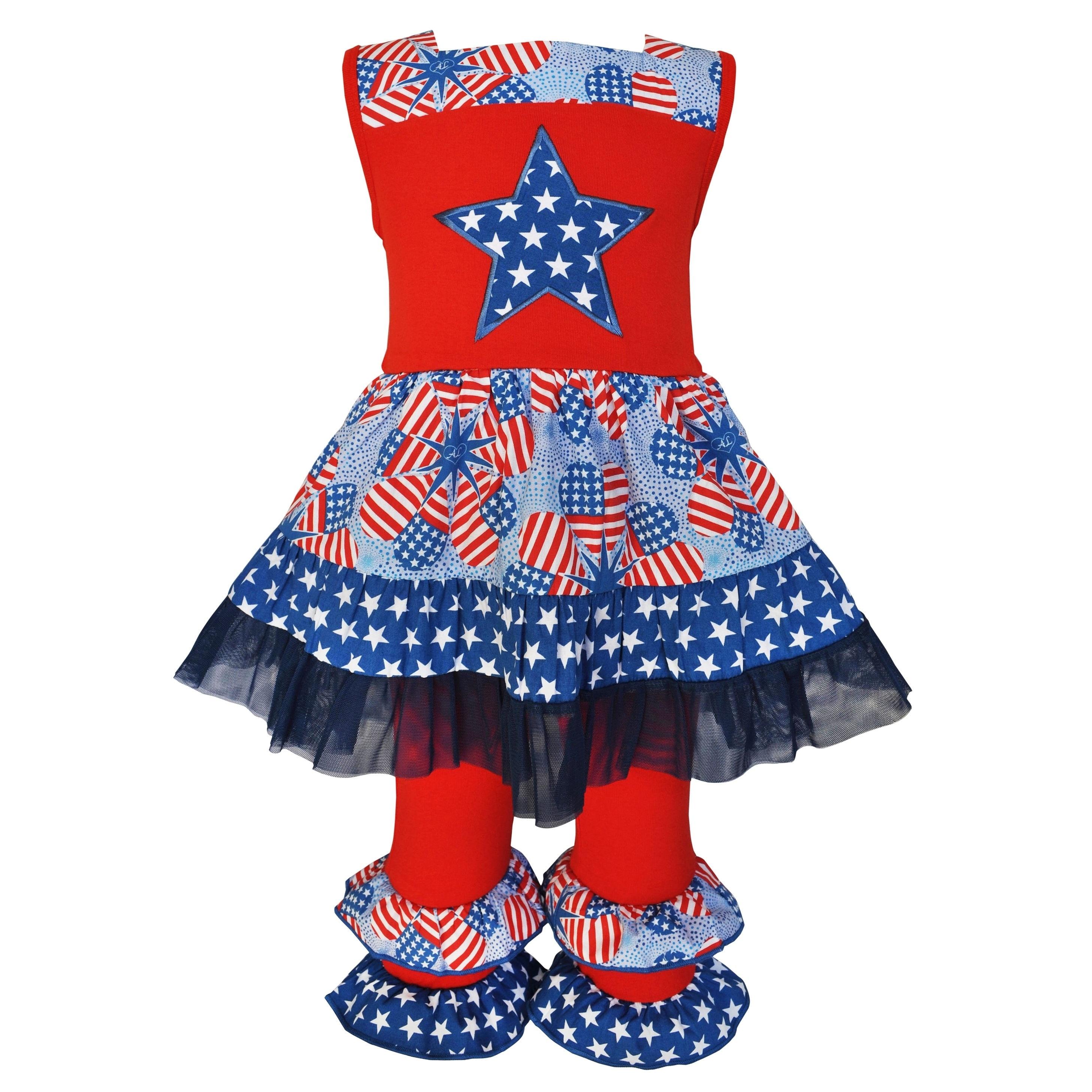 AnnLoren AnnLoren Girls' Boutique 4th of July Patriotic S...