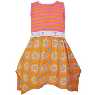 Ann Loren Girls' Stylish Boutique Sherbert Hanky Maxi Dress