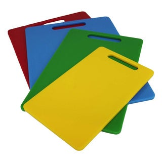 Plastic 4-pack Kitchen Cutting Board Set