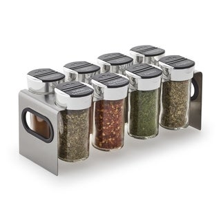 Kamenstein Blake Stainless Steel 8-jar Spice Rack