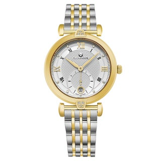 Alexander Women's Swiss Made 'Oympias' Two-Tone Stainless Steel Link Bracelet Watch