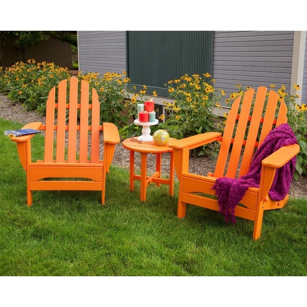 Polywood Clic Outdoor Folding Adirondack Chair