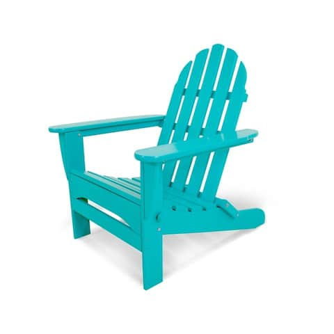 POLYWOOD Classic Outdoor Folding Adirondack Chair