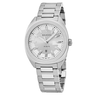 Gucci Women's YA142402 'GG2570' Silver Dial Stainless Steel Swiss Quartz Watch