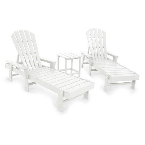POLYWOOD® South Beach Chaise Lounge 3-Piece Set