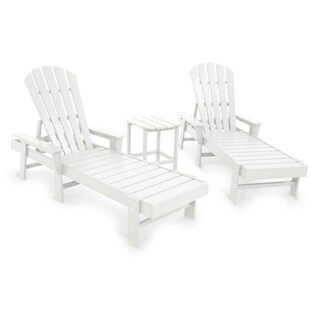 POLYWOOD South Beach Chaise 3-Piece Set