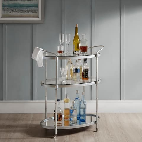 "Madison Park Signature Lauren Bar Cart 2-Color Option - 32.25""w x 16""d x 36""h"