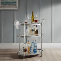 Madison Park Signature Lauren Antique Gold Bar Cart