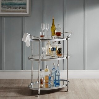 Madison Park Signature Lauren Anqitue Gold Bar Cart