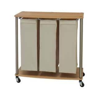 3-Bag Laundry Sorter Cart
