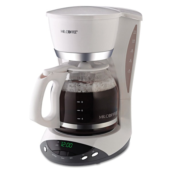 Mr. Coffee DWX20RB White 12-Cup Programmable Coffeemaker