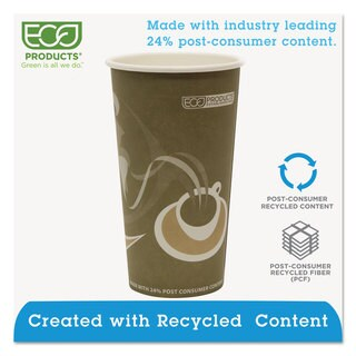 Eco-Products Evolution World 24-percent Recycled Content Hot Cups - 20-ounce 50/Pack 20 Pack/Carton