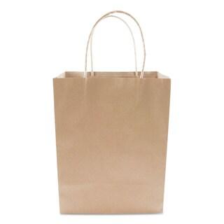 COSCO Premium Shopping Bag Paper 8 x 10 1/4 Brown 50/Box