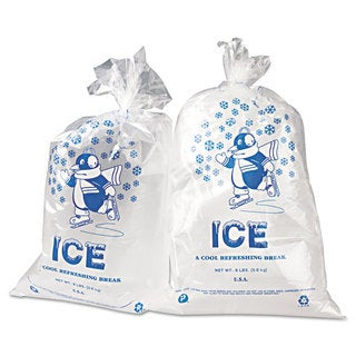 Inteplast Group Ice Bag 11 x 20 8-pound Capacity 1.5mil Clear/Blue 1000/Carton