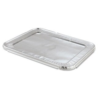 Handi-Foil of America Steam Table Pan Foil Lid Fits Half-Size Pan 12 13/16 x 10 7/16 100/Carton