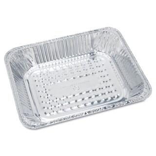 Handi-Foil of America Steam Table Aluminum Pan Half-Size 1 11/16 inches Shallow 100/Carton