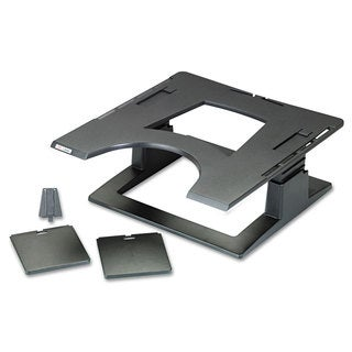 3M Notebook Riser with Adjustable Height 13 x 13 x 3 1/4 - 5 3/4 Black