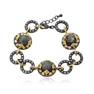 Riccova Cosmopolitan Gold Black Rhodium-Plated Link Bracelet