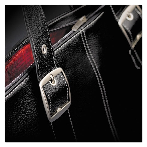 Solo Classic Tote and Laptop Case 15.6-inch 13 3/4-inch x 17 1/2-inch x 3 3/4-inch Black/Red