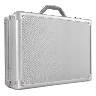 """Solo Pro Attache Laptop Case 17.3"""" 18-inch x 5-inch x 13"""" Titanium"""