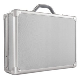 "Solo Pro Attache Laptop Case 17.3"" 18-inch x 5-inch x 13"" Titanium"
