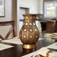 Decorative Gold 13.25-inch Sunburst Vase