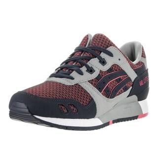 Asics Men's Gel-Lyte III Grey/Guava Running Shoe