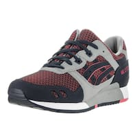Asics Men's Gel-Lyte III Grey/Guava Running Shoe