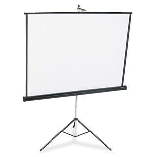 Quartet Portable Tripod Projection Screen 60 x 60 White Matte Black Steel Case