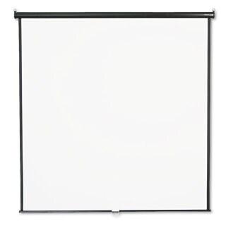 Quartet Wall or Ceiling Projection Screen 84 x 84 White Matte Black Matte Casing