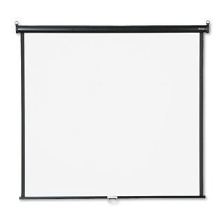Quartet Wall or Ceiling Projection Screen 60 x 60 White Matte Black Matte Casing