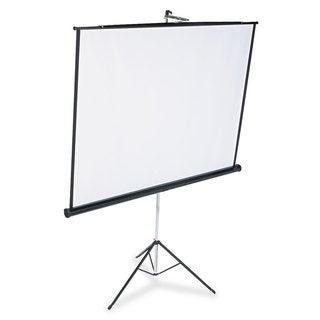 Quartet Portable Tripod Projection Screen 70 x 70 White Matte Black Steel Case