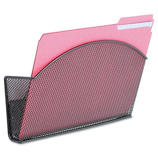 Safco Onyx Magnetic Mesh Panel Accessories Single File Pocket Black