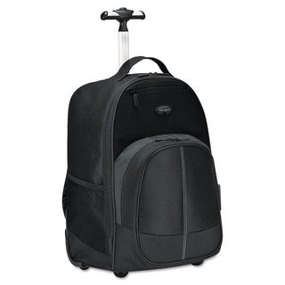 Targus Compact Rolling Backpack 19 1/3 x 7 1/2 x 13 4/10 Polyester Black